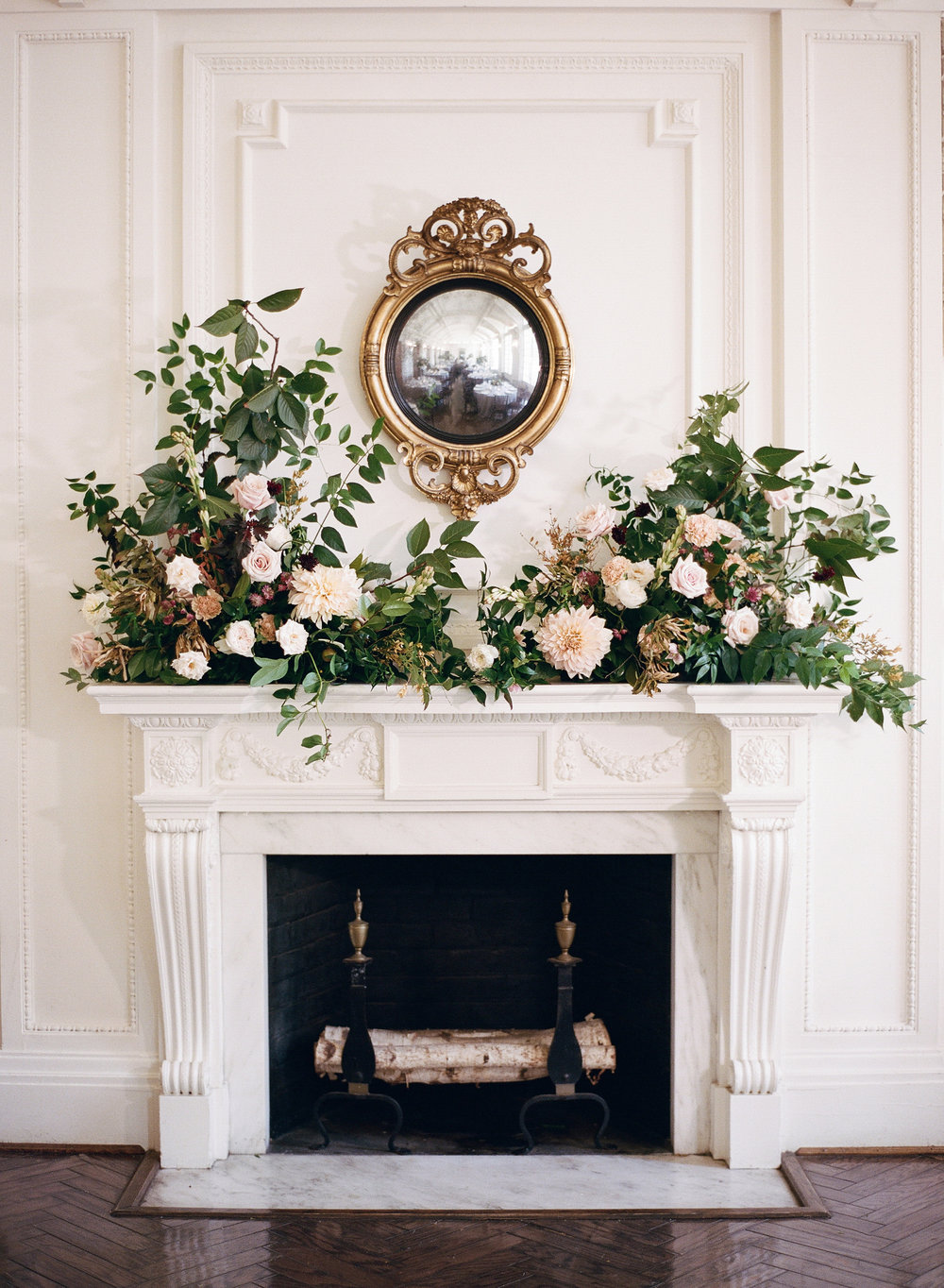 DAR Mantel Flowers by Wild Green Yonder