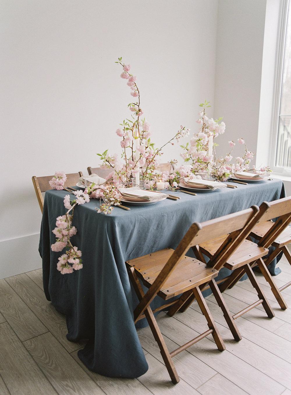 Cherry Blossom Wedding Centerpiece by Wild Green Yonder