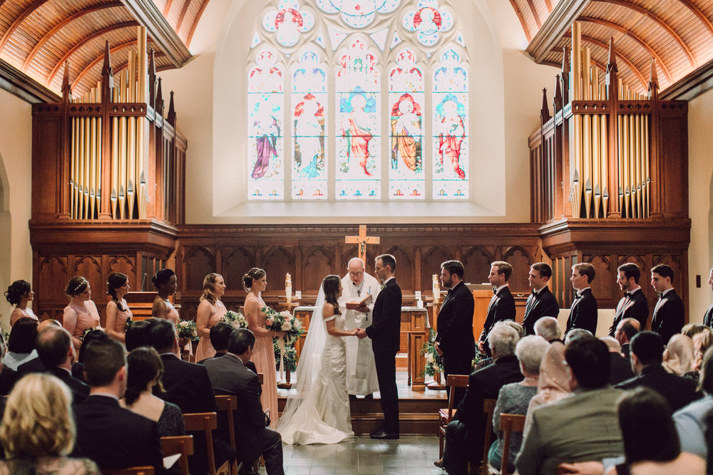 DC Wedding Florist Wild Green Yonder - Dahlgren Chapel Wedding