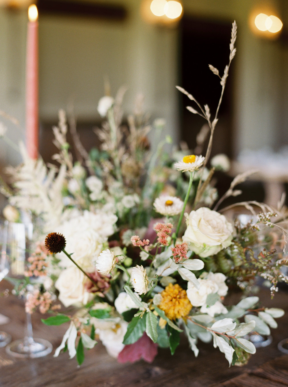 Early Mountain Vineyard Wedding - Wild Green Yonder Flowers