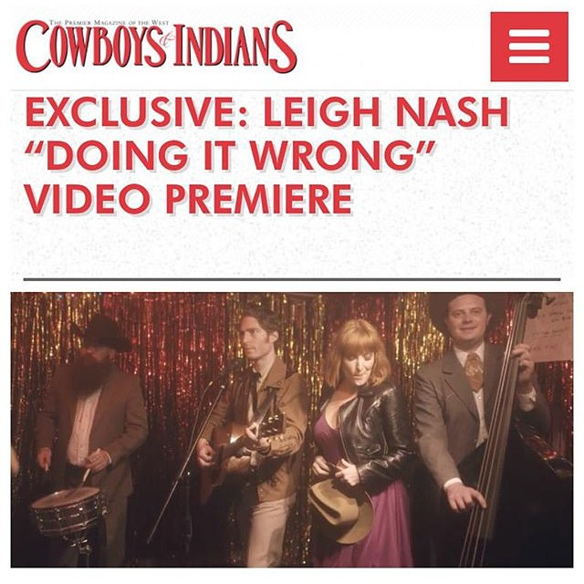 Excited that our video for @leighbirdnash premiered today in @cowboysindiansmagazine .we shot it at the legendary #charliebobs in Nashville check it out: http://www.cowboysindians.com/2015/11/exclusive-leigh-nash-video/ #nashville #musicvideo #premiere