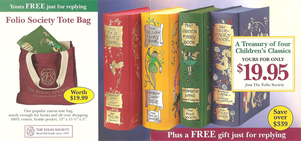 Fairy Tales Direct Mail Offer, The Folio Society, 2012 (Creative Consultant)