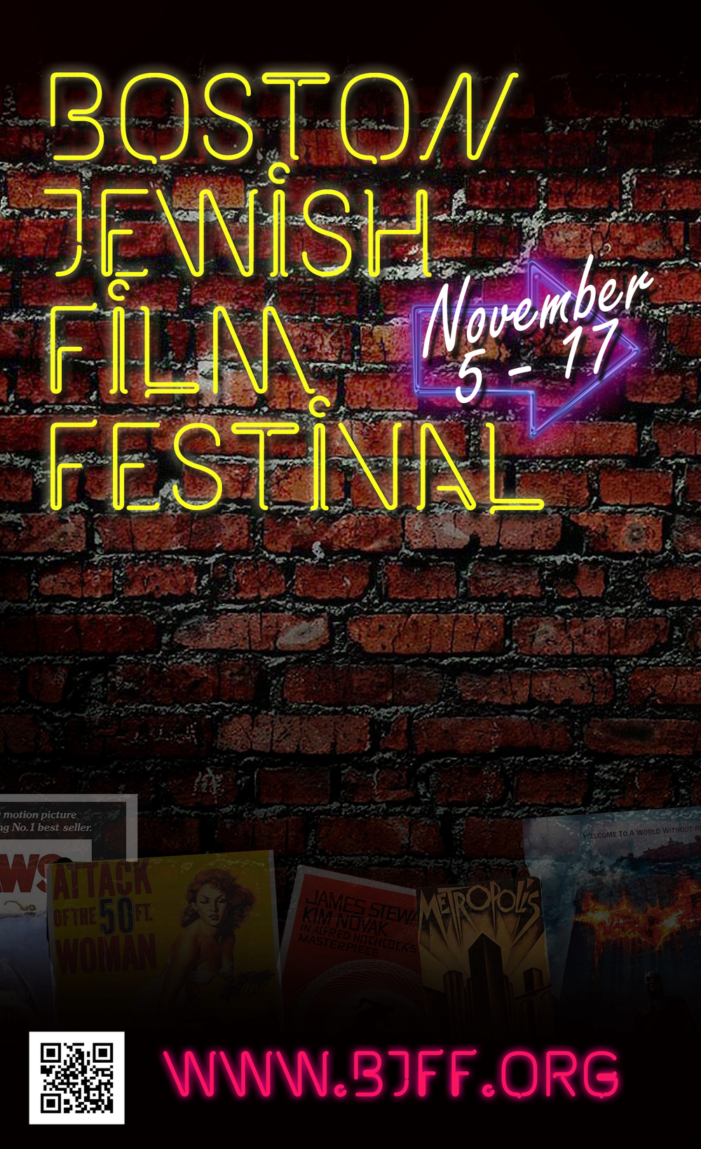 Festival Brochure Cover, Boston Jewish Film Festival, 2014