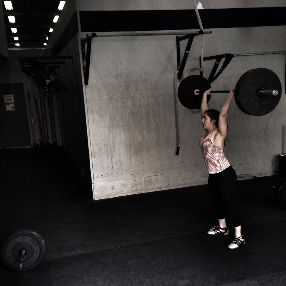 Polly. Clean and Jerk AMRAP.  Photo by Rafael Vega
