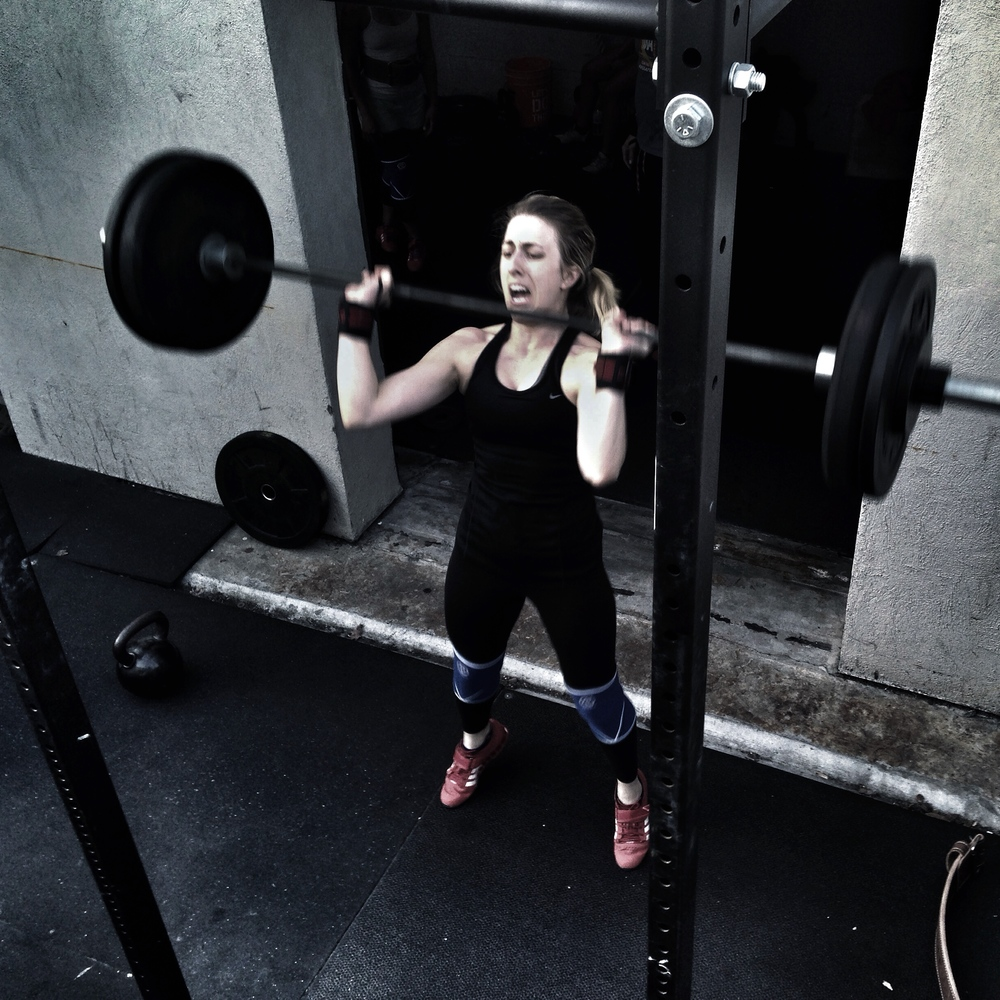 Jesseca. Fierce. 115 pound Thrusters.  Photo by Rafael Vega