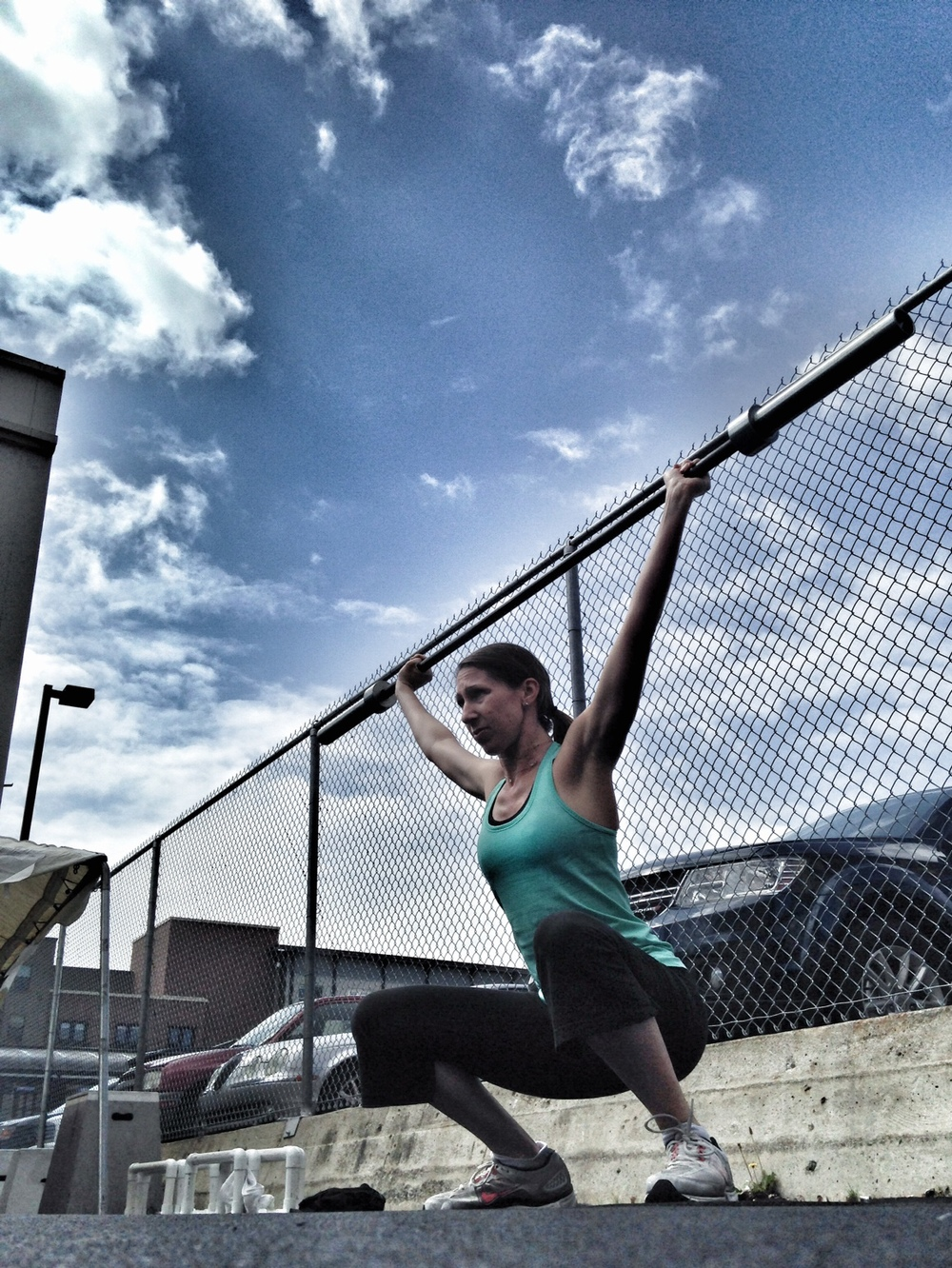 Melissa. Overhead Squat Drills.  Photo by Rafael Vega
