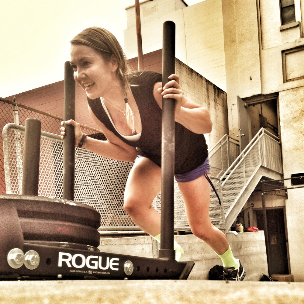 Stephanie. Losing shoe on prowler push.  Photo by Rafael Vega