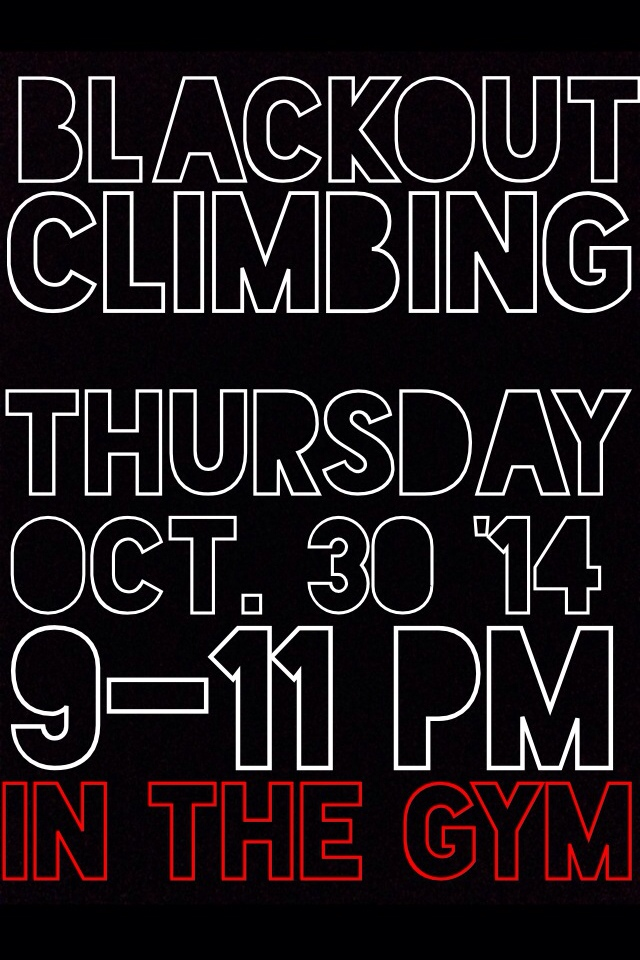 Bring a head lamp and your climbing shoes! And food. And beer. And money to tip your trainer :P
