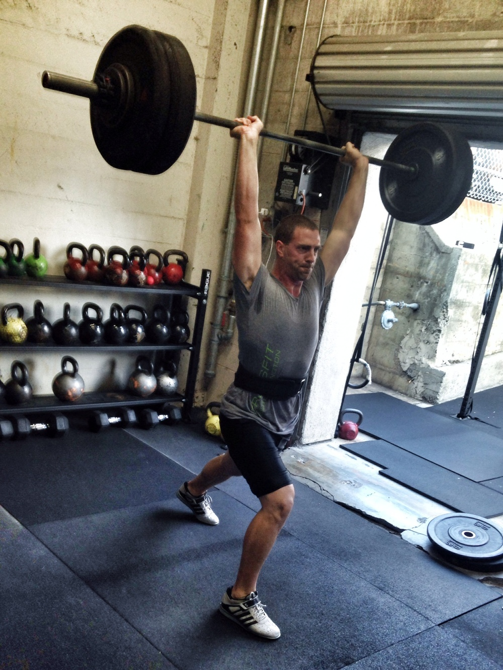 Joe. Clean and Jerk.  Photo by Rafael Vega