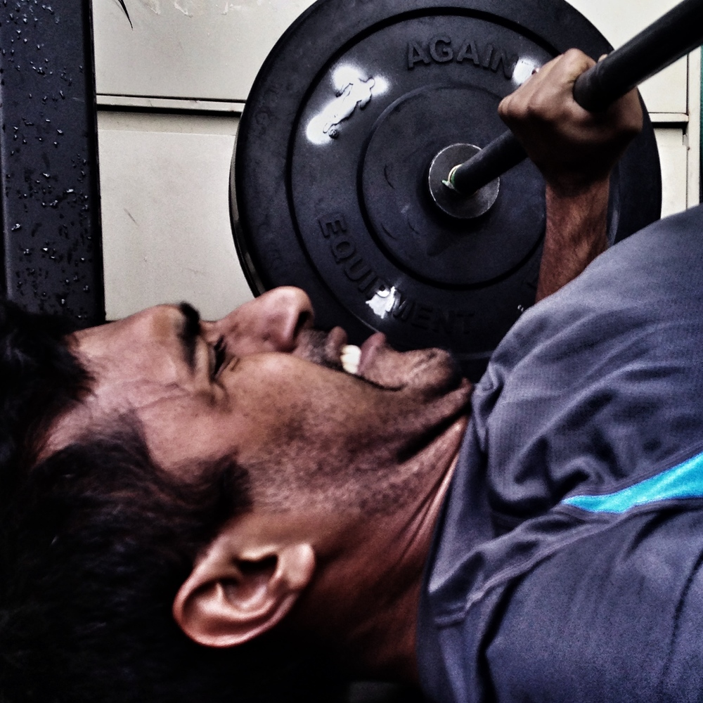 Vinay. Bench Press.  Photo by Rafael Vega