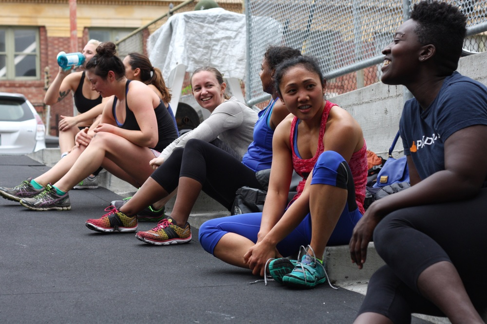 The ladies. Post Murph.       Photo: K