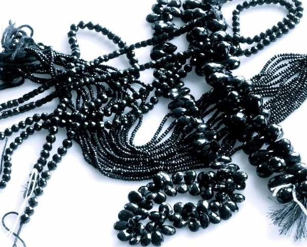 Isn't it the best!  You know how every woman should have a little black dress?  Well, I think every woman should have a black necklace that can go from the boardroom to the ballroom. Watch for the pieces that come from the Spinel I found.