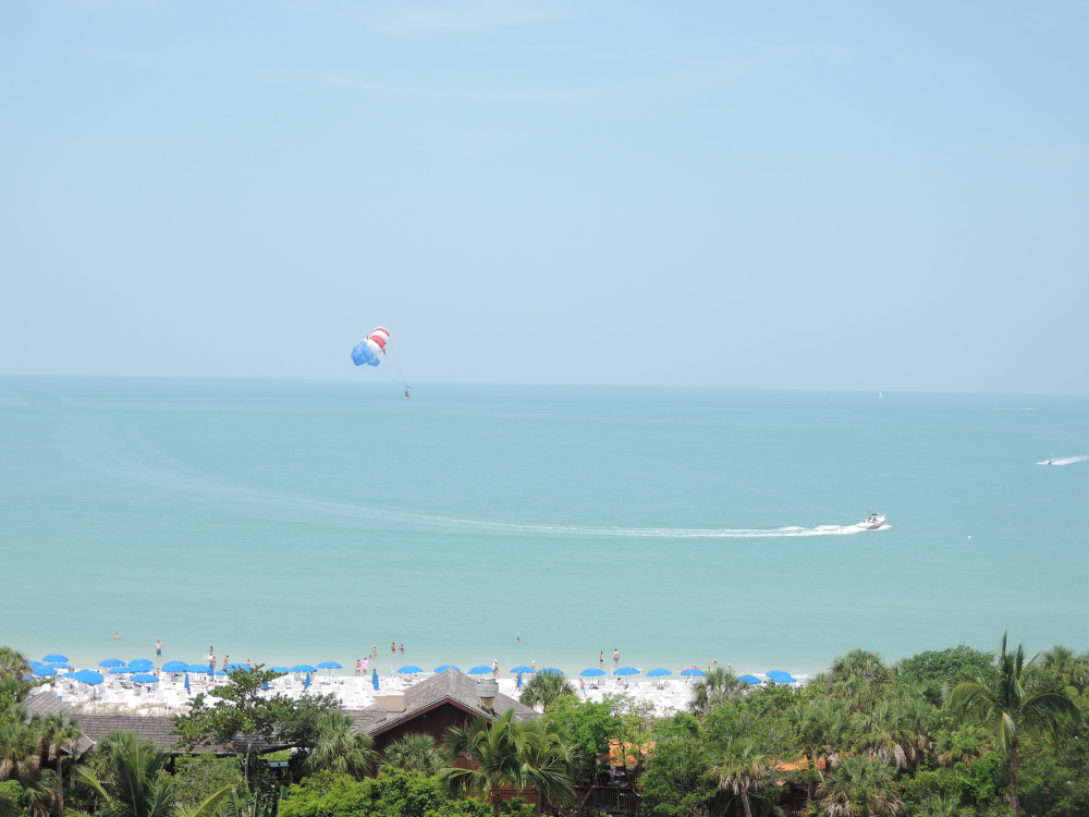 The view from my hotel balcony in Naples, FL.