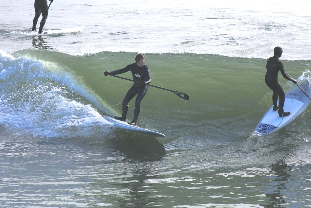 Brad surfing my 9'9 longboard