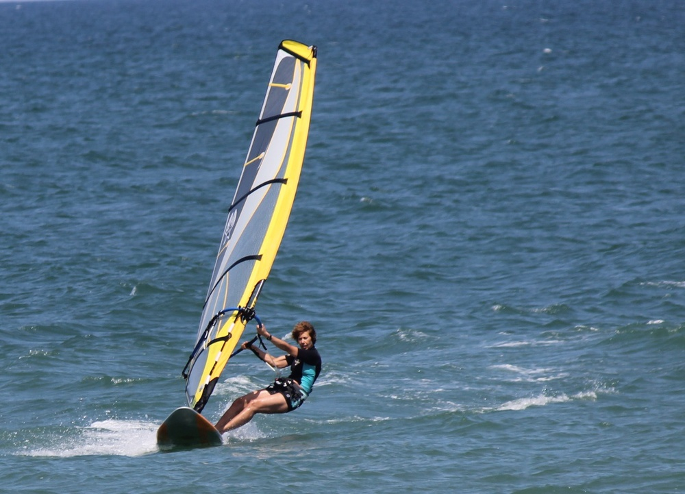 Jacky on the Freestyle Wave with 5.5 sail