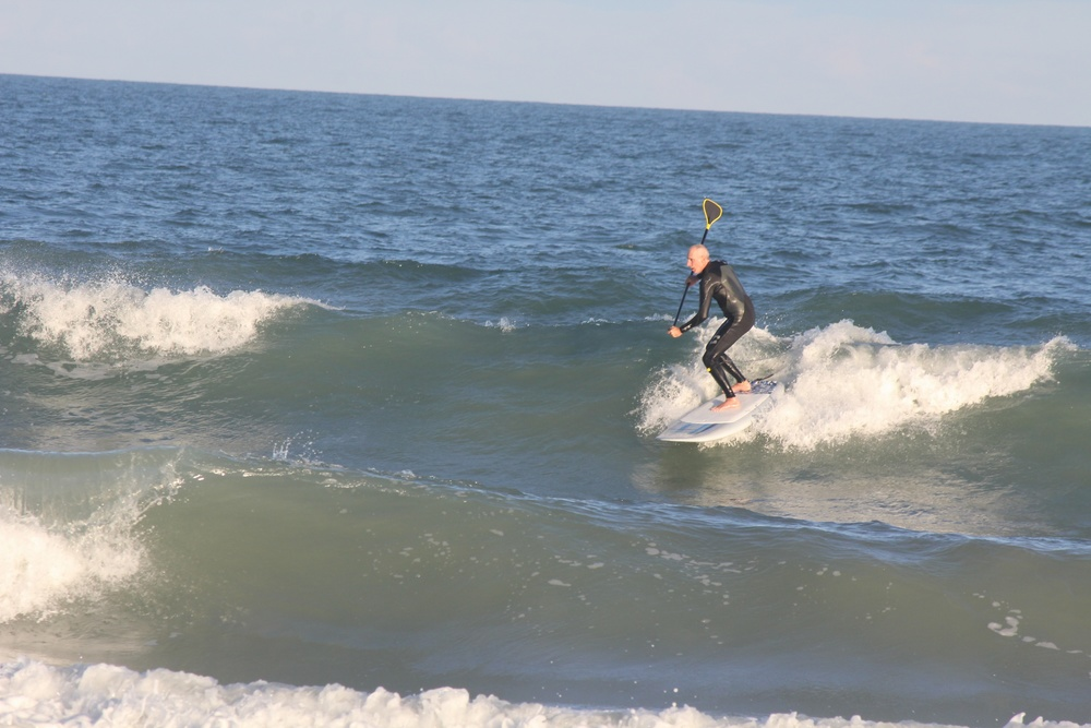 Here is a nice wave where the speed of the 7;7 Vulcan caught me unprepared with my back foot not in the tail. Watch below as I fly way out front of the wave. I'm a kook.