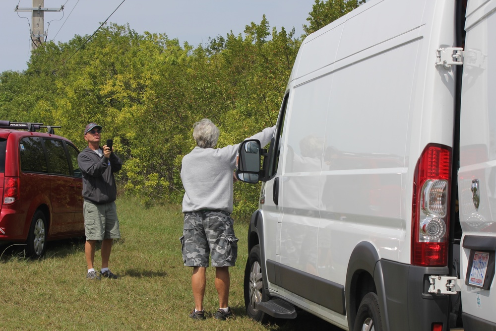 Larry and Ed discussing my ProMaster