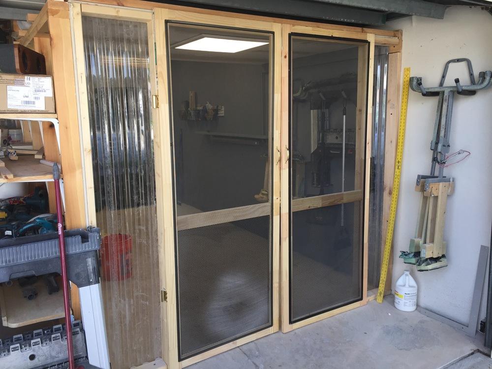 The shape shack is built inside my 3 car garage.