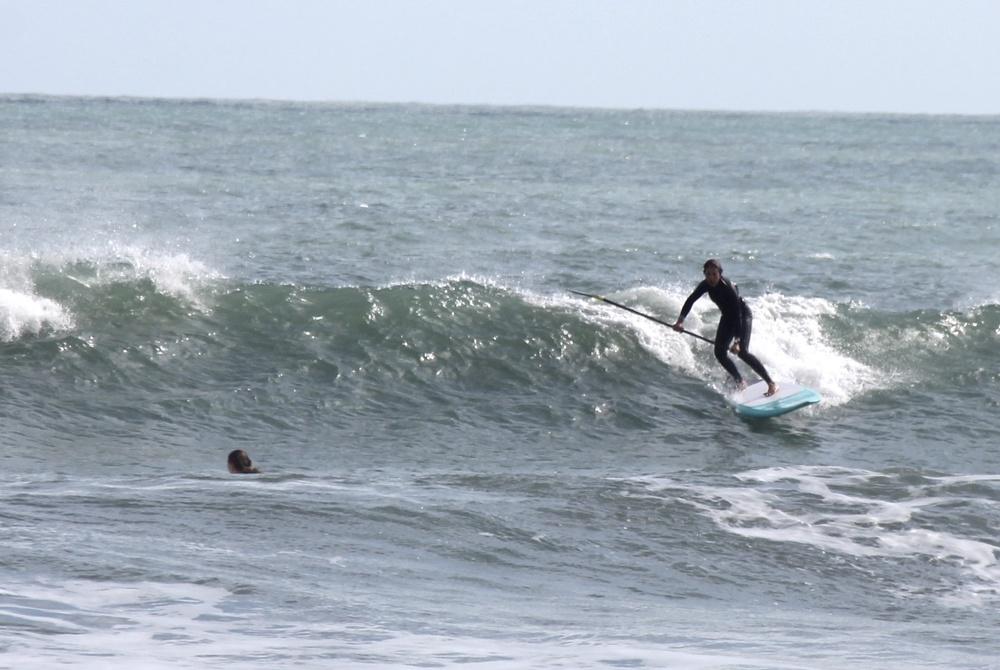 Jacky surfing Jetty Park