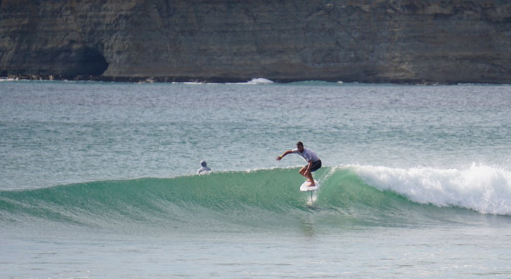 Pro Surfer Ben Bourgeois riding my 4'10 x 19