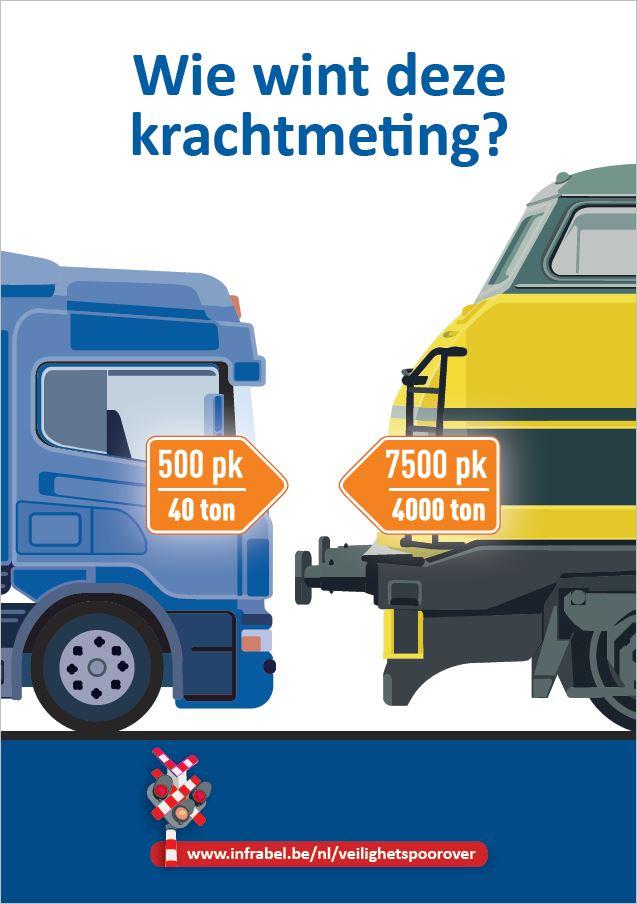 Infrabel veiligheidscampagne spooroverwegen