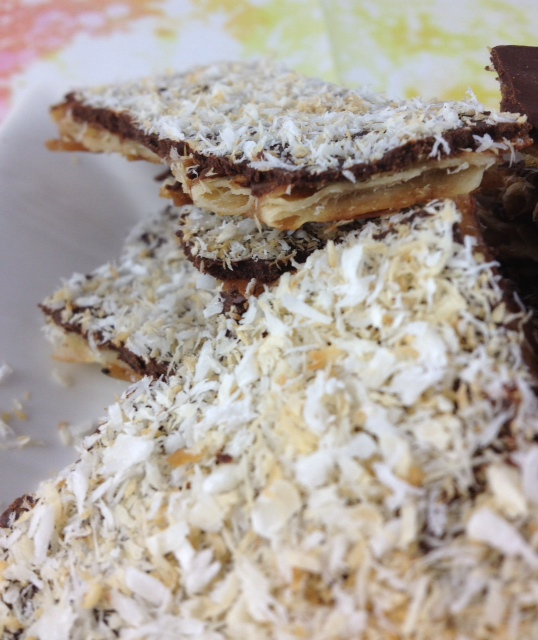chocolate caramel matzoh, coconut, beautiful shot copy.JPG