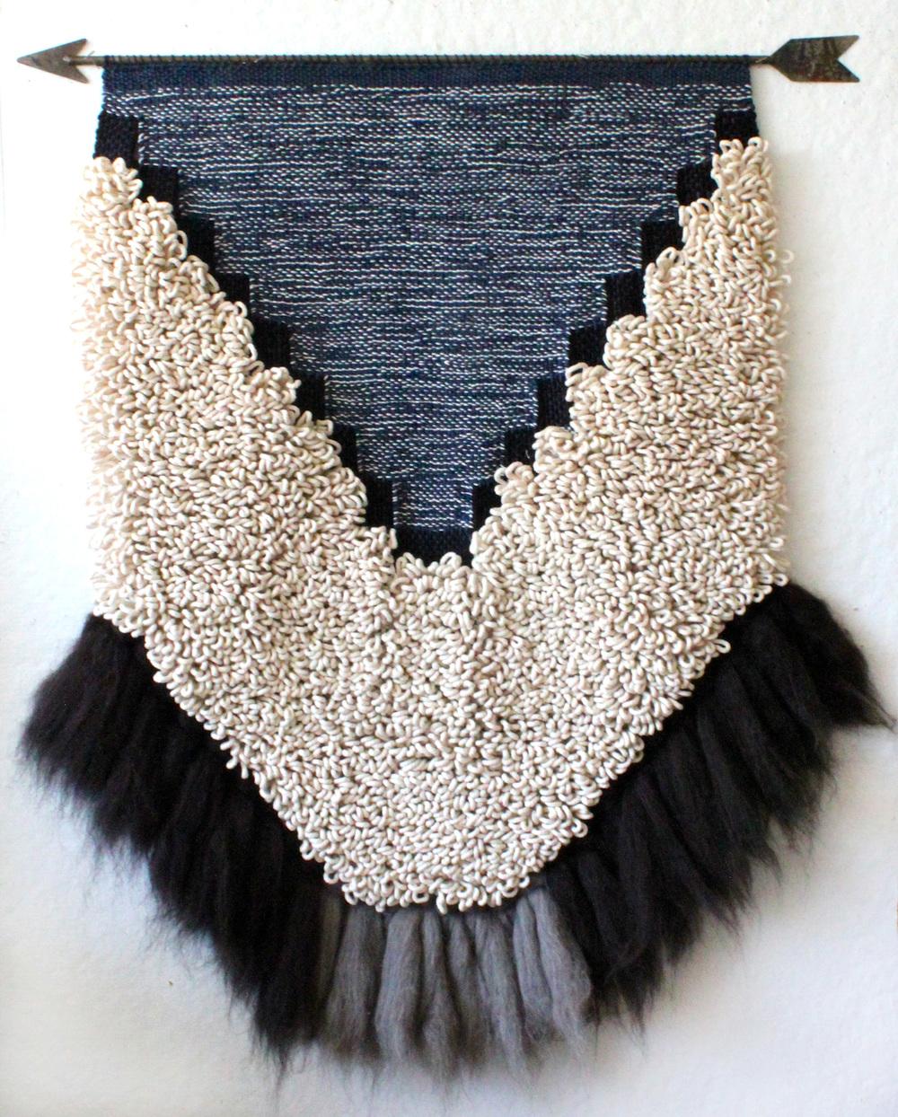 Cotton, wool, steel. 3' w x 4' h. 2015