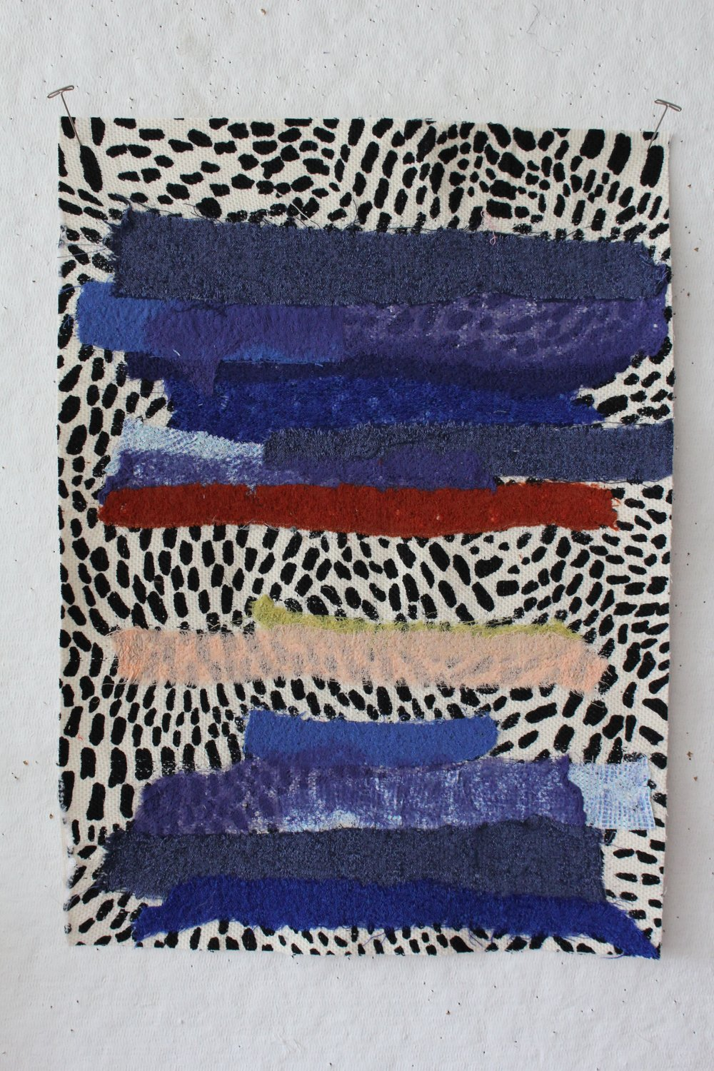 Felted fabric collage