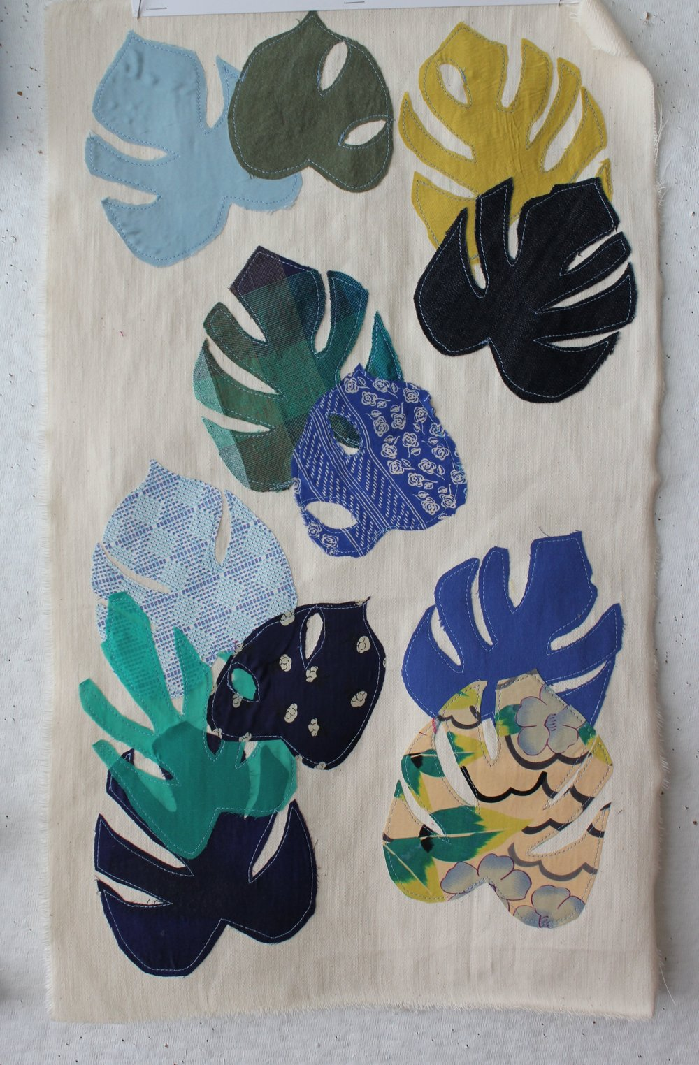 Appliqué fabric collage