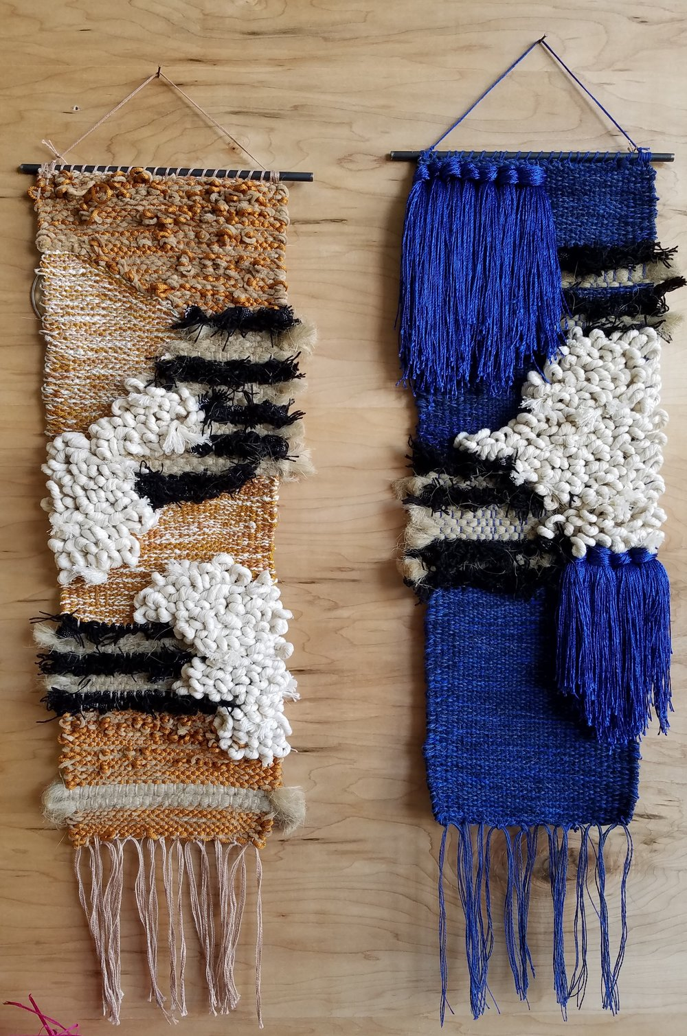 Blue & Ochre Weavings