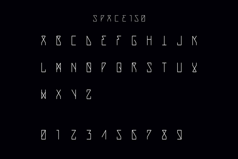 A proprietary typeface named F3NRIR was created to reflect a blending of nordic tradition with digital readouts.