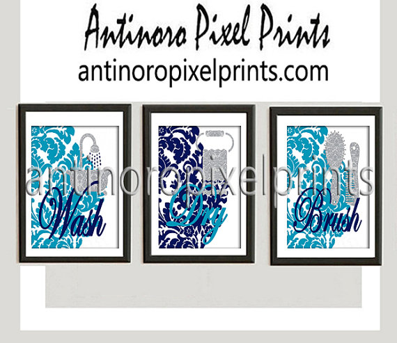 See All Bathroom Art —Antinoro Pixel Prints