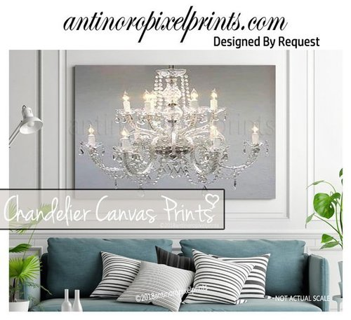 Art Crystal Abstract Chandelier Painting Custom Wall Art 1 Canvas