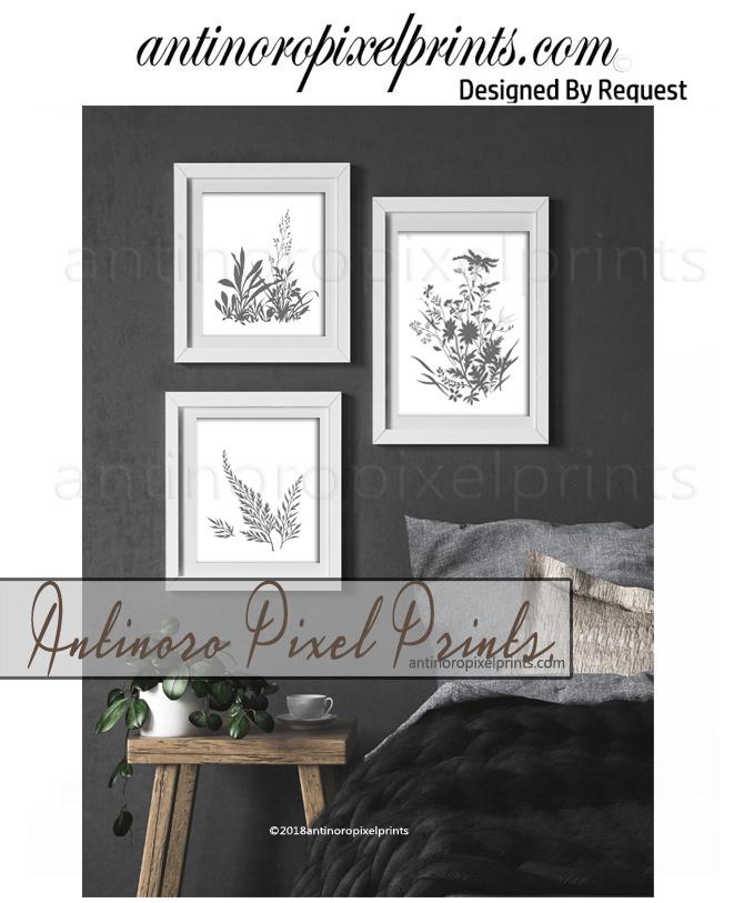 antinoro pixel prints Gray white wild flower art.jpg