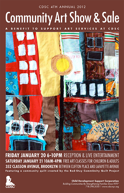 Hey everyone,   I'm in a community art show tomorrow. If you're in the neighborhood  please check it out! It's a benefit show for the Children's Development  Support Corporation in Brooklyn.  Opening is 6pm-10pm this Friday night