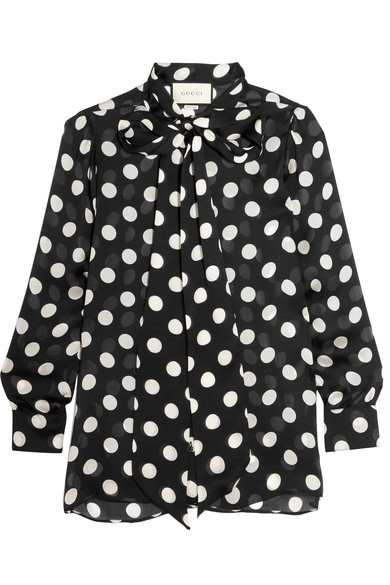GUCCI Silk Dot Pussy Bow Blouse, Net-a-Porter $1400