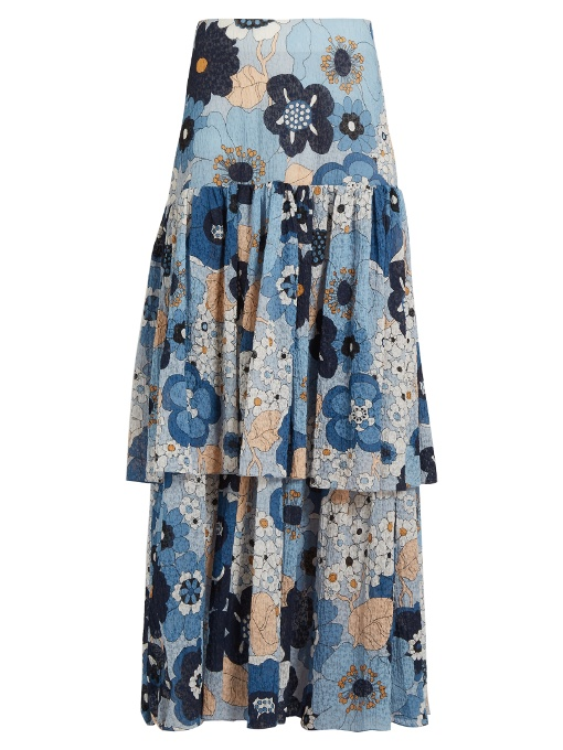 CHLOE Tiered Floral Skirt, NEIMAN MARCUS, $2,395