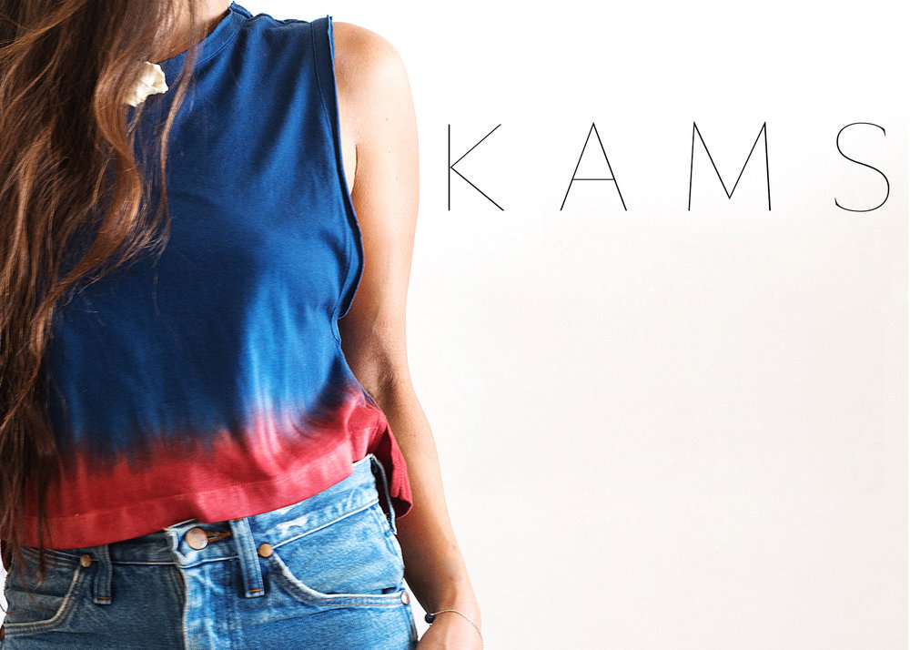 - Los Angeles based collection  K A M S makes it's debut for Spring 2017 with a capsule of super soft 100% cotton pieces hand dyed for every day wear. Meant to be casual with a laid back West Coast attitude, these are some of the most comfortable necessities you will add to your closet this year.