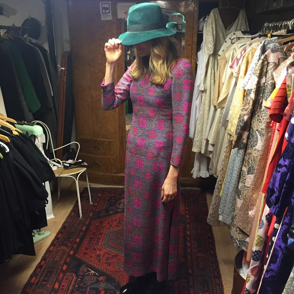 Where are  your FAVORITE places to find your vintage gems? - I still dream of a little shop in the East Village called Centricity where my best friend and I would go almost every weekend to drink wine with the owner, Christine, and shop her closet of vintage finds that were SO well priced! We were guaranteed to walk out of there with something every time and have spent no more than $40. It was my happy place. Now, I live in a city that unfortunately doesn't appreciate good vintage clothing,  so I get my vintage fix from Etsy and other online retailers like Apartoftherest. In London I hit up Brick Lane and Portobello Road market. In NYC it's ever changing, but when I get the chance I roam aimlessly around downtown popping in and out of the little vintage shops. I recently discovered Milan has amazing vintage - it's not cheap, but it's really good!