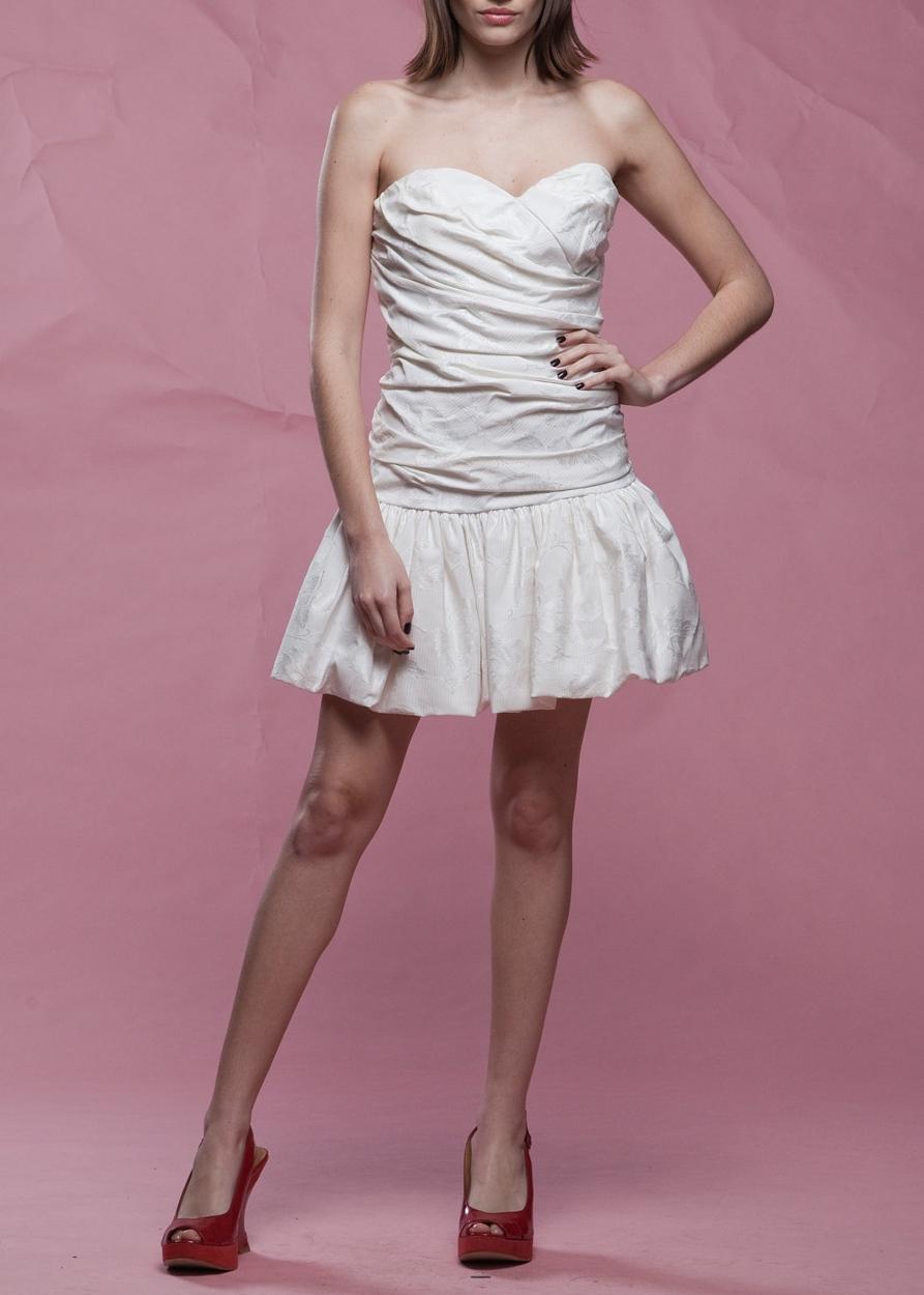 1980s Jacquard StraplessCocktail Dress - From RABBIT HOLE VINTAGE