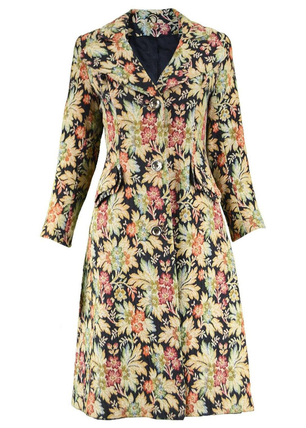 Miss Selfridges floral tapestry jacket on 1st dibs