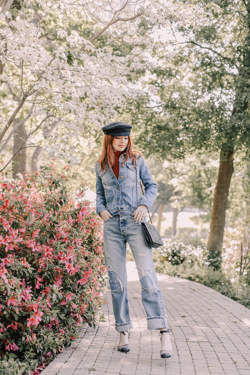 Image of Jane from Sea of Shoes in New patchworked jeans