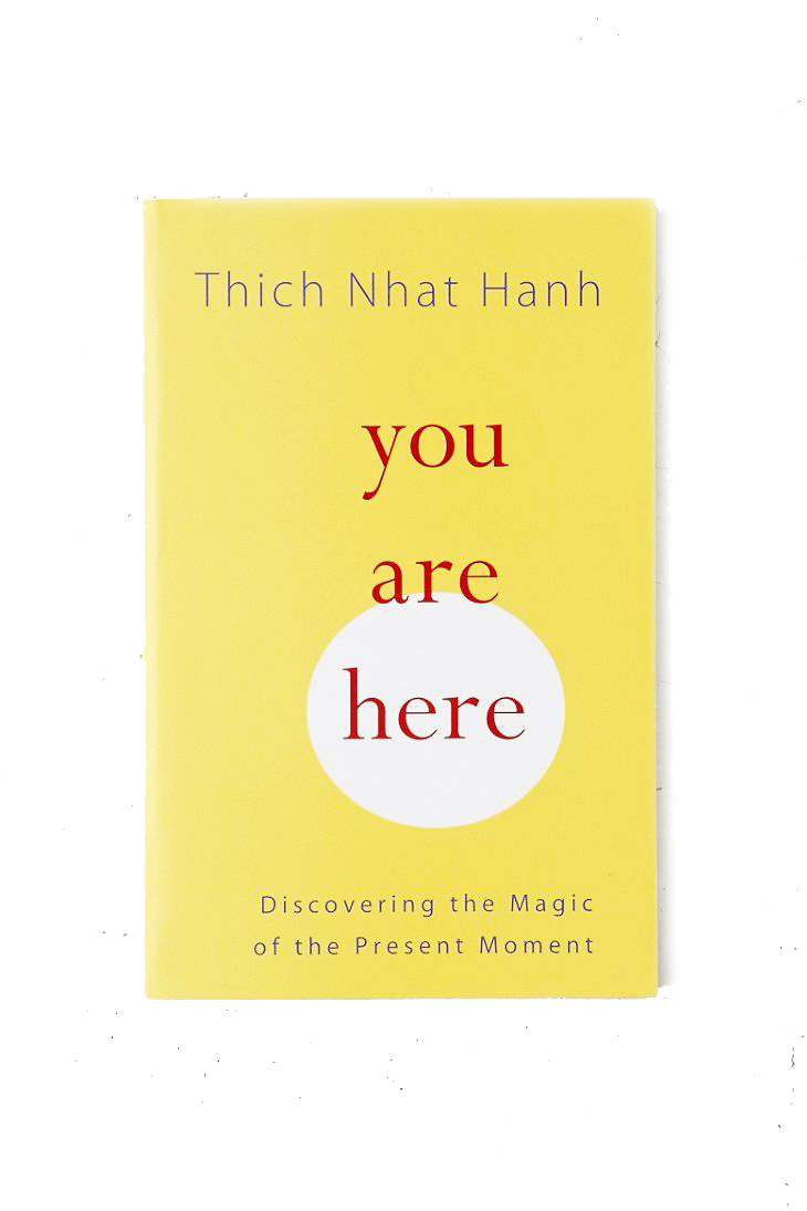 BUT ALSO BE RIGHT HERE - YOU ARE HERE is such a good read to get back into your soul. Sometimes we all need to go a little inward.Thich Nhat Hahn and his magic wil bring you right back home.Get one for yourself, your sister, your friend and spread the love.