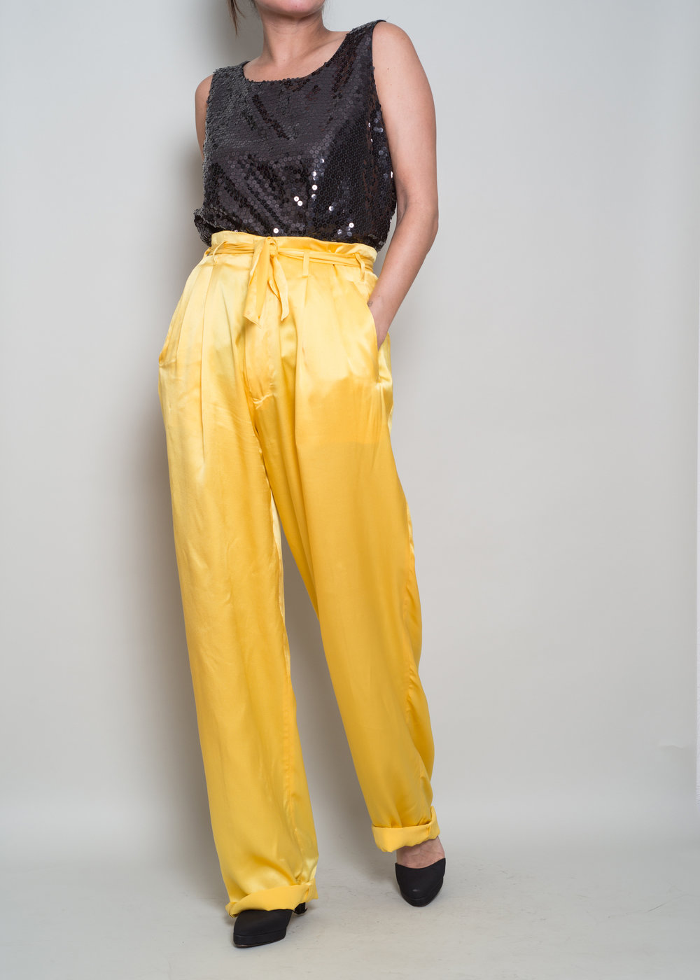 Vintage Yellow - A Part of the Rest Vintage Ralph Lauren Silk Trouser