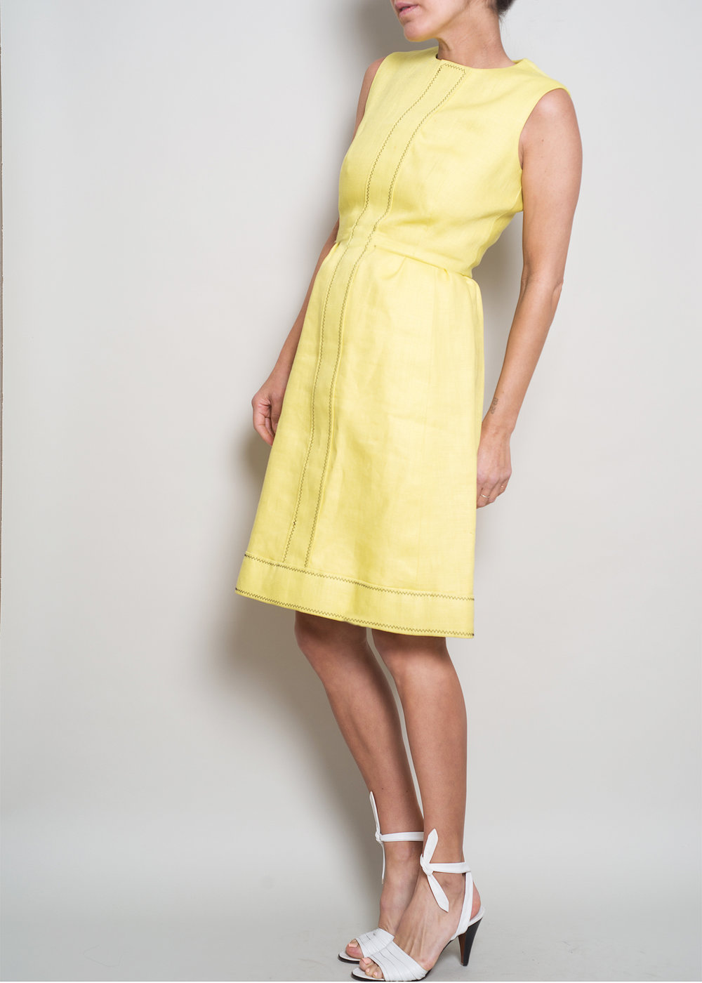 1970s GIVENCHY Yellow Linen Summer shift dress from A PART OF THE REST VINTAGE