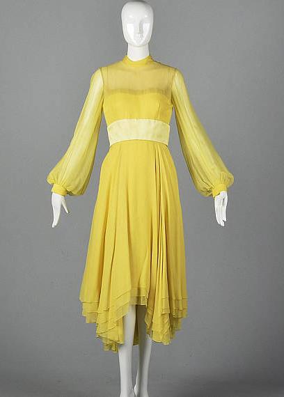 Chiffon Travilla Dress from Style and Salvage
