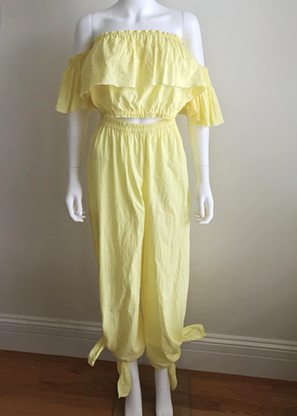 A Part of the Rest Vintage recommends Dolce Vita Vintage Yellow Gauze Set.jpg