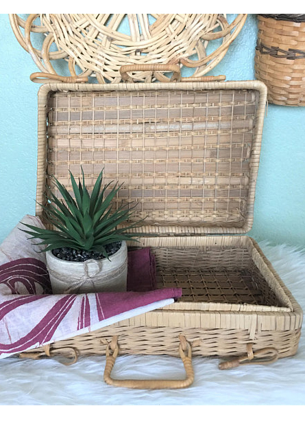 A VINTAGE PICNIC BASKET - A quick search in Etsy and you'll come up on pages and pages of adorable vintage basket finds that are waiting to be filled with your afternoon delights