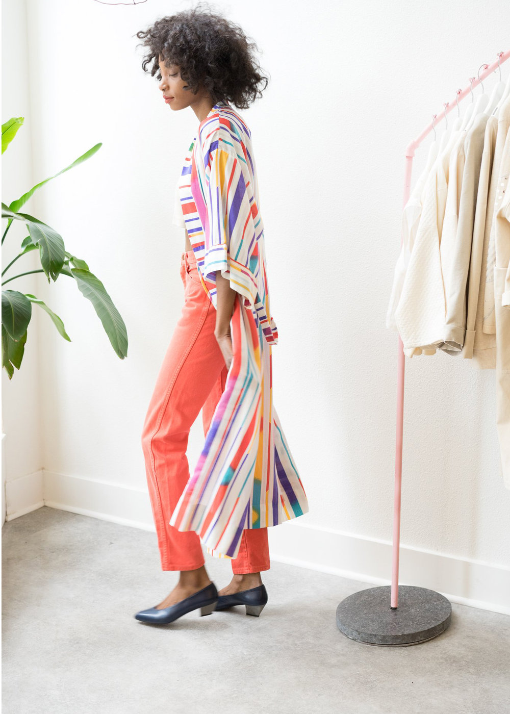UNDER $200 - You really can't go wrong with a cool and bright lightweight summer jacket. This vintage robe is all of those things at $165.