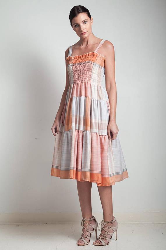 A Part of the Rest recommends Shop Rabbit Hole Vintage 70s Plaid Smock Dress.jpg